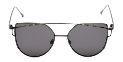 Front of Bellina #2193 in Grey Frame with Grey Lenses