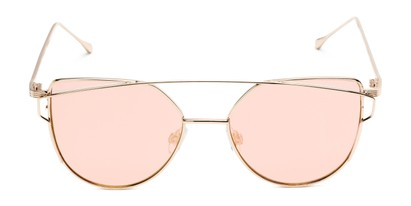 Front of Bellina #2193 in Rose Gold Frame with Pink Lenses
