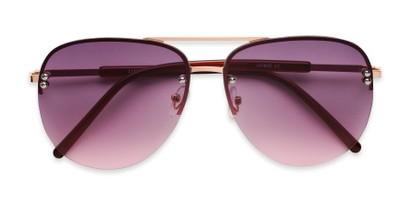 Folded of Bellow in Gold Frame with Pink Gradient Lenses