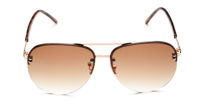 Front of Bellow in Gold Frame with Amber Gradient Lenses