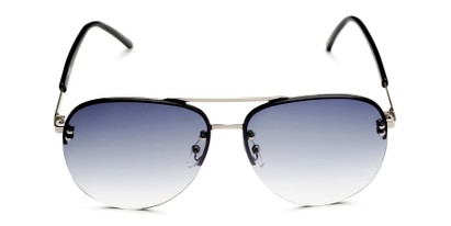Front of Bellow in Silver Frame with Blue Gradient Lenses