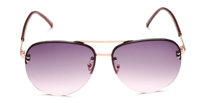 Front of Bellow in Gold Frame with Pink Gradient Lenses