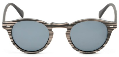 Front of Benbrook #2513 in Black/Tan Stripe Frame with Grey Lenses