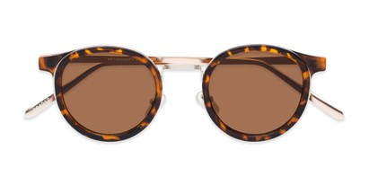 Folded of Benton #18922 in Glossy Tortoise Frame with Amber Lenses