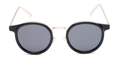 Front of Benton #18922 in Glossy Black Frame with Grey Lenses