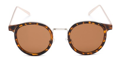 Front of Benton #18922 in Glossy Tortoise Frame with Amber Lenses