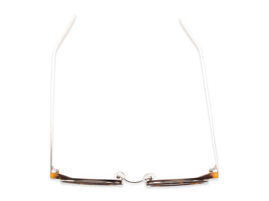 Overhead of Benton #18922 in Glossy Tortoise Frame with Amber Lenses