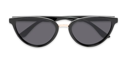 Folded of Berkley #16280 in Black Frame with Grey Lenses
