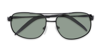 Folded of Bern #4289 in Black Frame with Green Lenses
