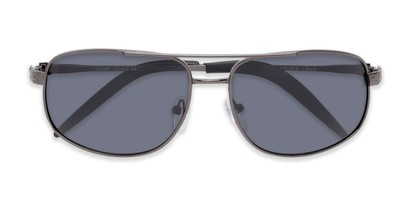 Folded of Bern #4289 in Grey Frame with Smoke Lenses