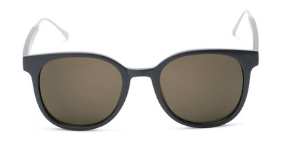 Front of Blaire #6921 in Dark Grey Frame with Gold Mirrored Lenses