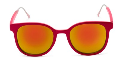 Front of Blaire #6921 in Red Frame with Orange Mirrored Lenses
