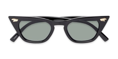 Folded of Blanca #71019 in Black Frame with Green Lenses