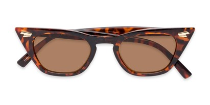 Folded of Blanca in Tortoise Frame with Amber Lenses