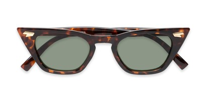 Folded of Blanca in Tortoise Frame with Green Lenses