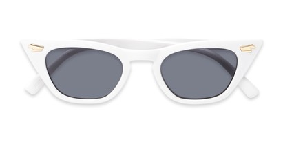 Folded of Blanca #71019 in White Frame with Grey Lenses