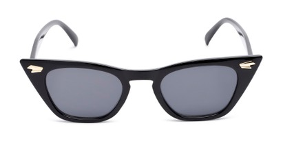 Front of Blanca in Black Frame with Grey Lenses