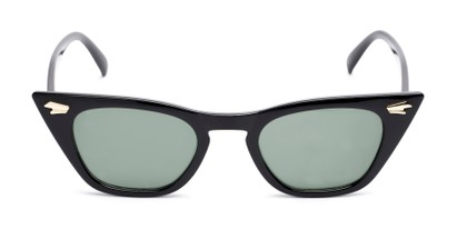 Front of Blanca in Black Frame with Green Lenses