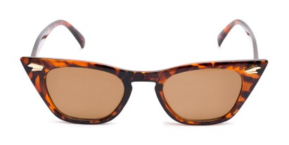 Front of Blanca in Tortoise Frame with Amber Lenses