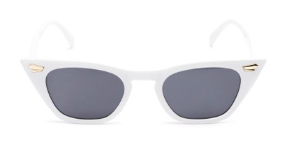 Front of Blanca #71019 in White Frame with Grey Lenses