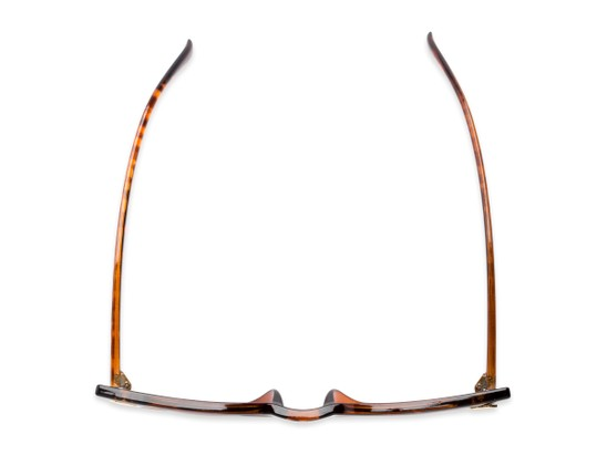 Overhead of Blanca #71019 in Tortoise Frame with Amber Lenses