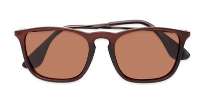 Folded of Boone #4187 in Matte Brown Frame with Amber Lenses
