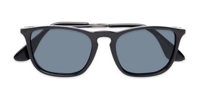 Folded of Boone #4187 in Glossy Black Frame with Grey Lenses