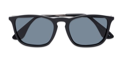Folded of Boone #4187 in Matte Black Frame with Grey Lenses