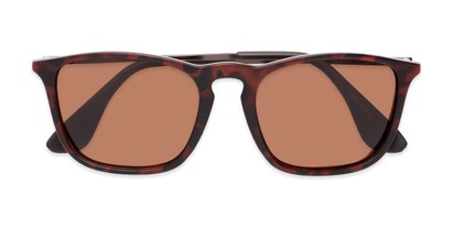 Folded of Boone #4187 in Matte Tortoise Frame with Amber Lenses