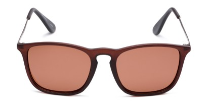 Front of Boone #4187 in Matte Brown Frame with Amber Lenses
