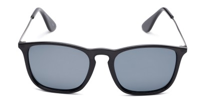 Front of Boone #4187 in Glossy Black Frame with Grey Lenses