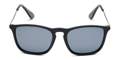 Front of Boone #4187 in Matte Black Frame with Grey Lenses