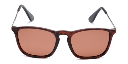 Front of Boone #4187 in Matte Tortoise Frame with Amber Lenses