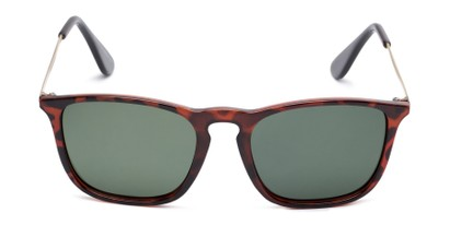 Front of Boone #4187 in Glossy Tortoise Frame with Green Lenses