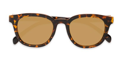 Folded of Boston #16099 in Tortoise Frame with Gold Mirrored Lenses