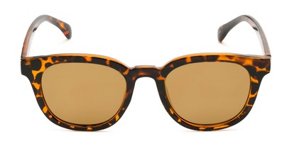 Front of Boston #16099 in Tortoise Frame with Gold Mirrored Lenses
