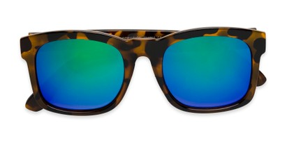Folded of Borough in Glossy Tortoise Frame with Blue/Green Mirrored Lenses