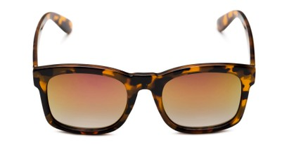 Front of Borough in Glossy Tortoise Frame with Yellow/Pink Mirrored Lenses