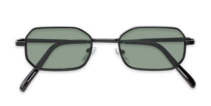Folded of Boyd #3155 in Black Frame with Green Lenses