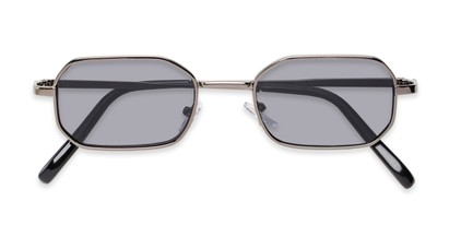 Folded of Boyd #3155 in Grey Frame with Smoke Lenses