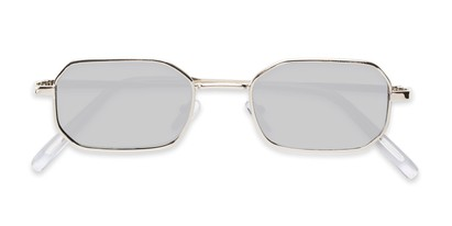 Folded of Boyd #3155 in Silver Frame with Smoke Lenses
