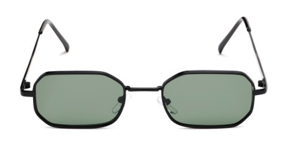 Front of Boyd #3155 in Black Frame with Green Lenses