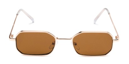 Front of Boyd #3155 in Gold Frame with Amber Lenses
