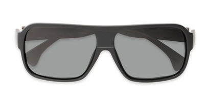 Folded of Bozeman #14011 in Matte Black/Brown Frame with Smoke Lenses
