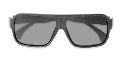 Folded of Bozeman #14011 in Matte Black Frame with Smoke Lenses