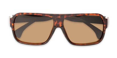 Folded of Bozeman #14011 in Matte Tortoise Frame with Amber Lenses
