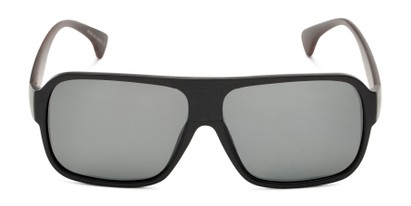 Front of Bozeman #14011 in Matte Black/Brown Frame with Smoke Lenses