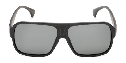 Front of Bozeman #14011 in Matte Black Frame with Smoke Lenses