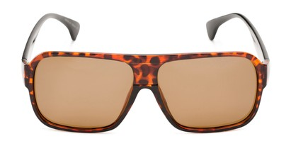 Front of Bozeman #14011 in Matte Tortoise Frame with Amber Lenses
