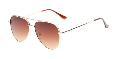 Angle of Breaker #3218 in Gold Frame with Amber Lenses, Women's and Men's Aviator Sunglasses